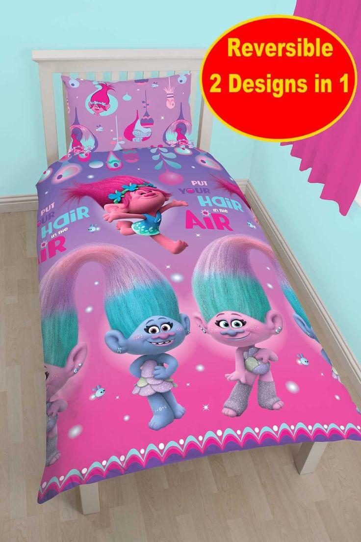 Dreamworks Trolls Single Rotary Duvet Cover Set