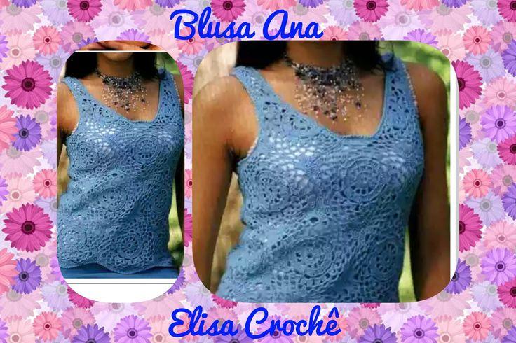 Versão destros : Blusa Ana em crochê M 40 / 42 ( 2ª parte ) # Elisa Crochê