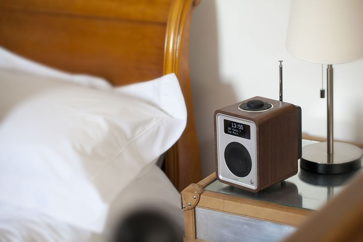 Ruark Audio R1 MK3 in walnut finish. The perfect bedside radio with award winning sound and a luxurious finish.