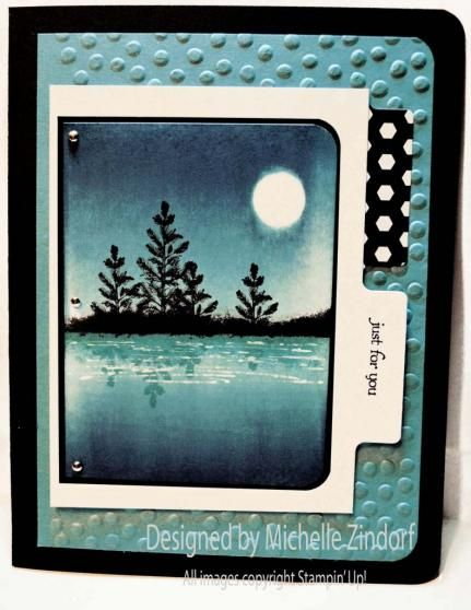 Pines Reflection – Stampin' Up! Card created by Michelle Zindorf