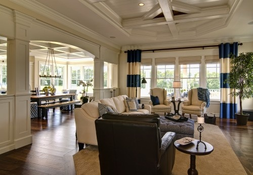 love open plan, windows, contrastKitchens, Curtains, Open Plans, Living Rooms, Farinelli Construction, Families Room Design, Living Room Design, Livingroom, Family Rooms