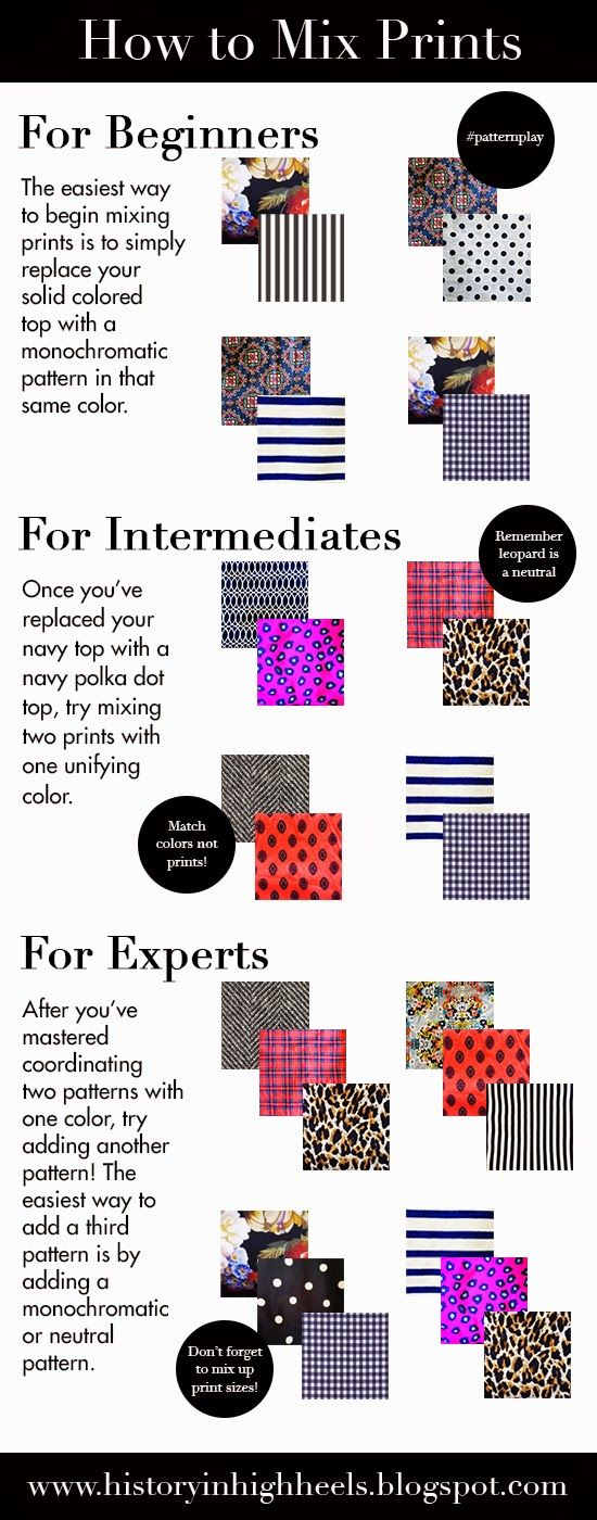 Pattern mixing - a step-by-step guide to mixing prints!