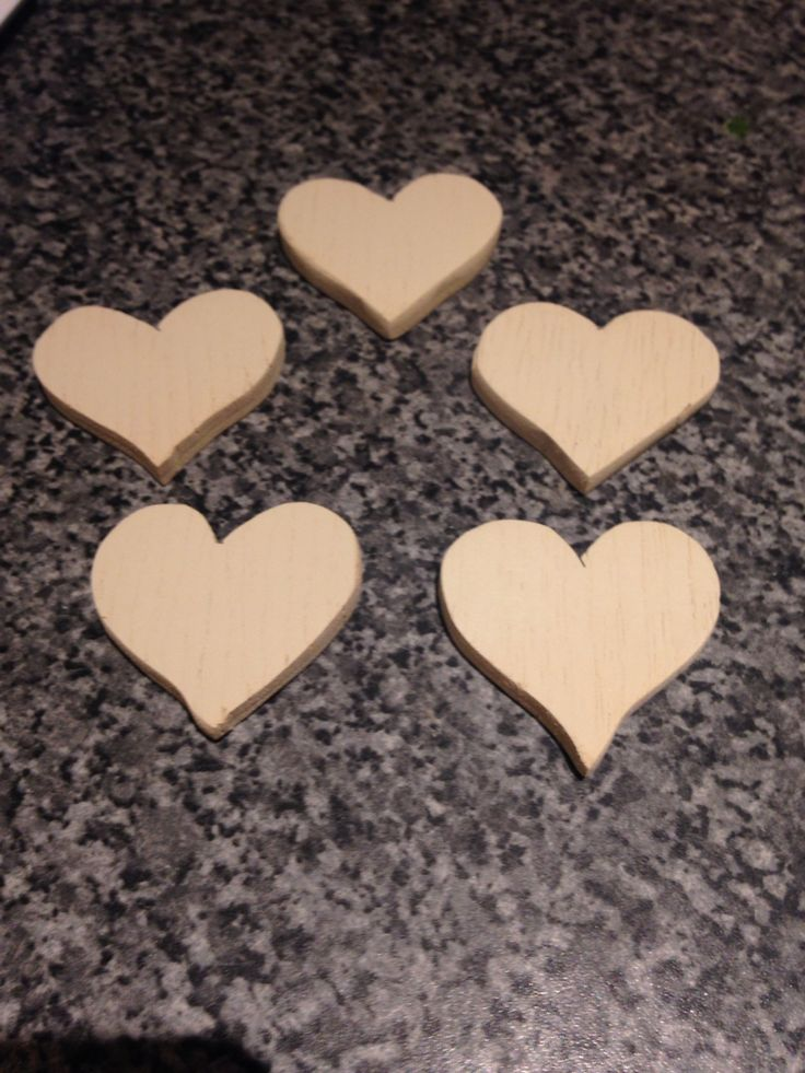 Scrap timber, scroll saw cut heart shapes and sprayed, not sure what Evie has planned for them next ❤️