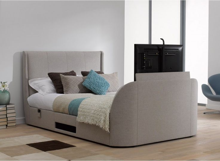 the 25 best tv bed frame ideas on pinterest pallett bed frame pallet bed frames and bed on. Black Bedroom Furniture Sets. Home Design Ideas