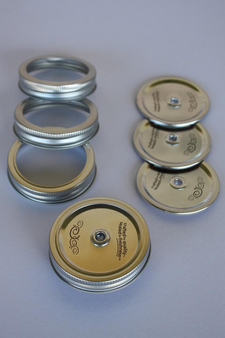 mason jar drinking glass replacement lids 4 pk by gsfool on etsy 800 - Mason Jar Drinking Glasses