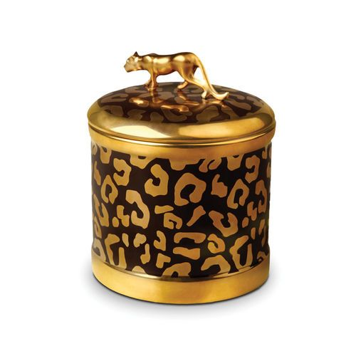 housed in a handcrafted limoges porcelain vessel with gold accents and a leopard finial this stunning candle is one youu0027ll treasure long after