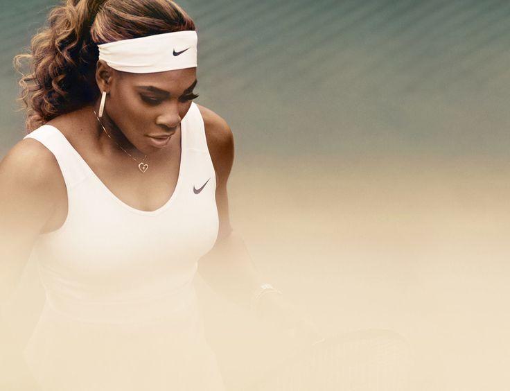 Nike advert for Serena Williams white Nike tennis dress for Wimbledon #SW19 #grass