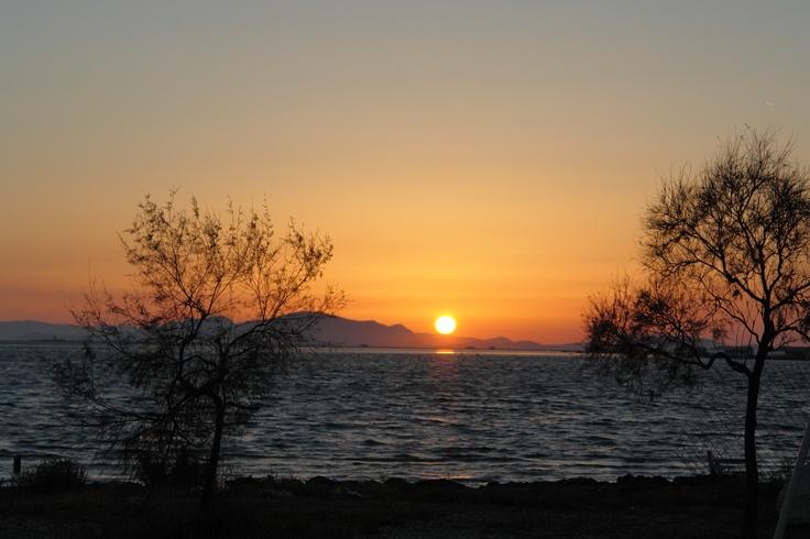 Mesologgi sunset, Tourlida, GREECE