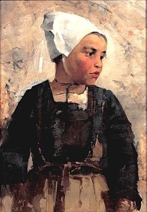 """""""Jeune Bretonne"""", Schjerfbeck Helene, (1862-1946)"""