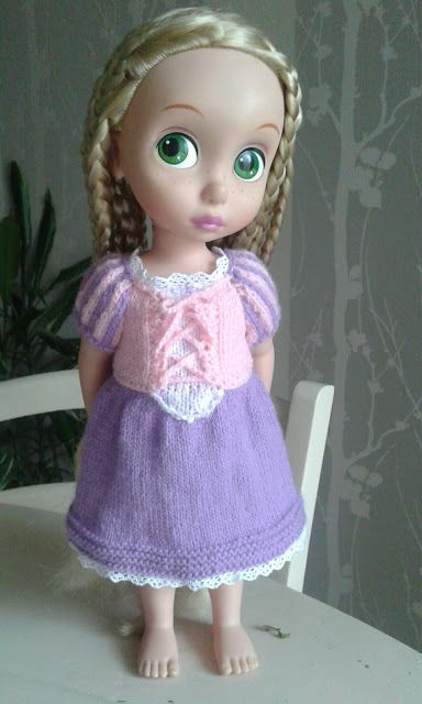 Coco couture tricot broderie tape 2 pour raiponce la petite robe disney confection - Raiponce petite ...