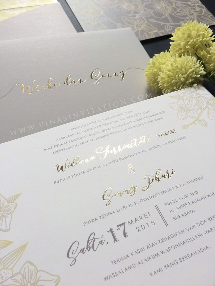 165 best blossom flower wedding invitations by vinas invitation vinas invitation sydney wedding invitation indonesia wedding invitation simple elegantfloral simple stopboris Gallery