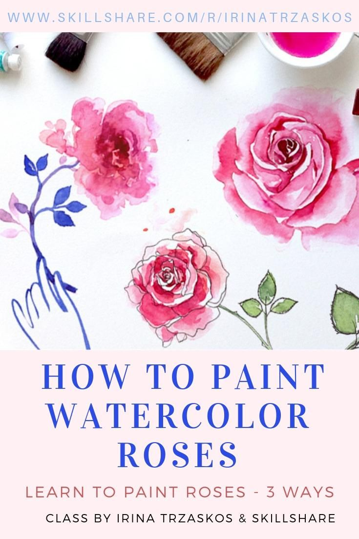 How To Paint Watercolor Roses Watercolor Tutorial Online Class