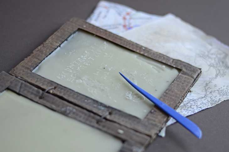Make your own Roman writing tablet with this craft activity for kids.