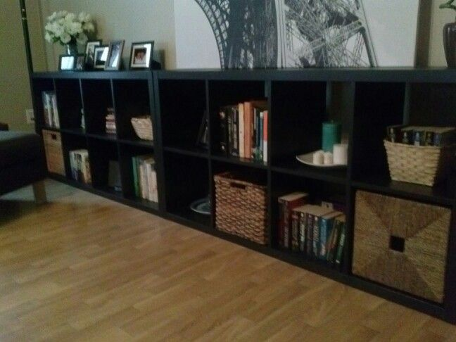 My Bookshelf Arrangement 2 Ikea Bookcases Horizontally And Side By To Fill In This