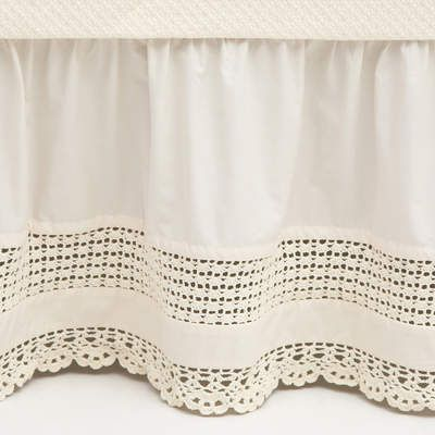 October 7-13: This beautiful, feminine, and chic crochet pattern adds detail to the classic elegance of our cotton bed skirt. This week only, get 80% off these beauties. #dealoftheweek