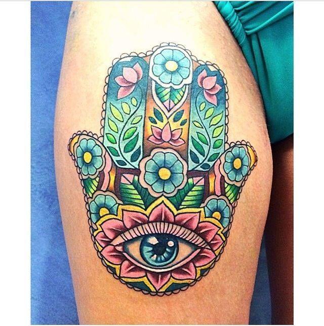 Best 25 hamsa tattoo design ideas on pinterest for Hamsa elephant tattoo