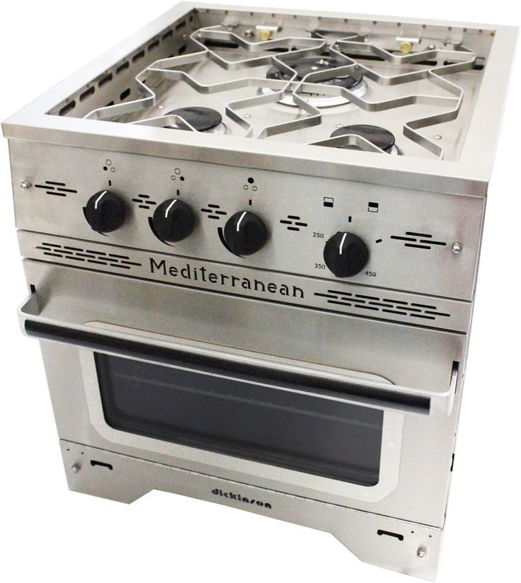 "The Mediterranean Three Burner Propane Stove has a heavy duty stainless steel construction with an efficient, powerful 'Triple style' 11,000 and two 7,000 BTU burners, all equipped with safety 'flame-out' protection. Comes with safe push and turn electronic ignition. A propane hose, 11"" WC regulator and fittings are needed and sold separately. 100% Stainless Steel …"
