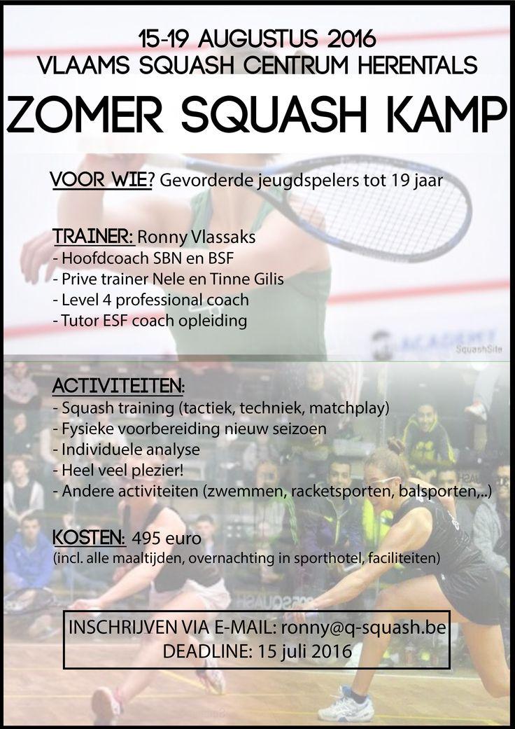 Zomer squash kamp Ronny Vlassaks | vsf.be