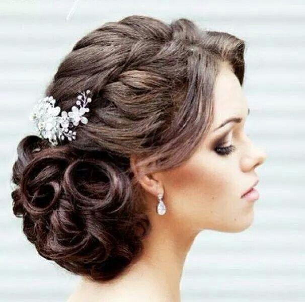 Gorgeous wedding updo