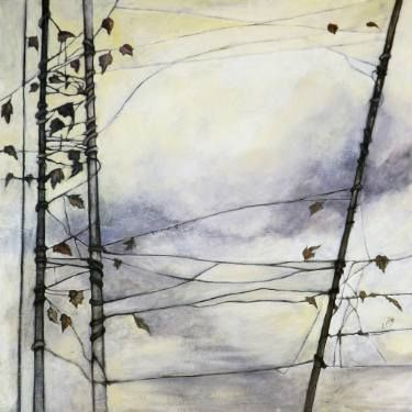 """Saatchi Art Artist Marjan Fahimi;  """"borderline"""" - Oil on wood - 100x100 cm #art"""