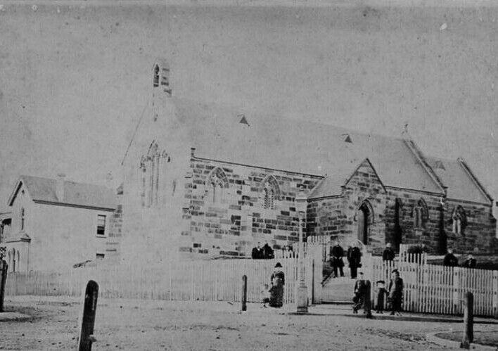 St Bartholomew Church in Pyrmont,Sydney in 1870.