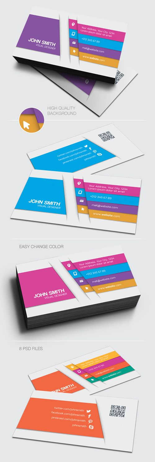 50 best business cards images on pinterest business cards carte 25 modern and unique business cards design reheart Gallery