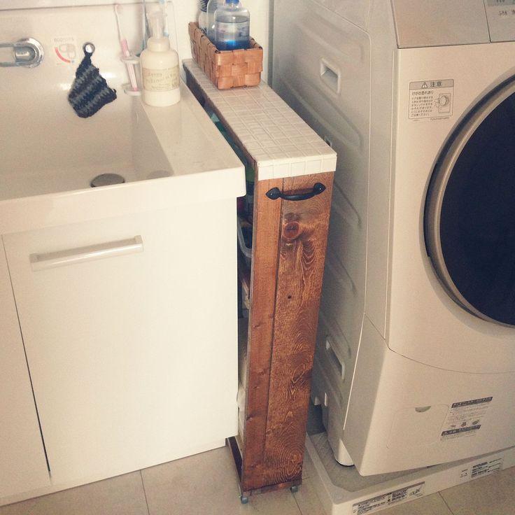 DIY/モザイクタイル /セリア/隙間収納/タイルDIY/バス/トイレ…などのインテリア実例 - 2015-01-19 08:59:21 | RoomClip(ルームクリップ)