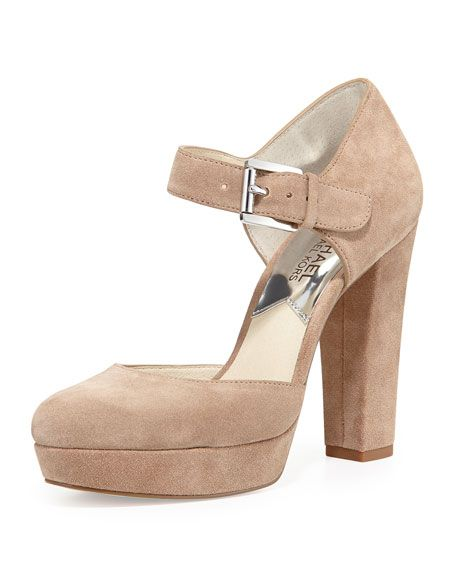 ceb281be0c63 Get free shipping on MICHAEL Michael Kors Flynn Suede Platform Mary Jane  Pump