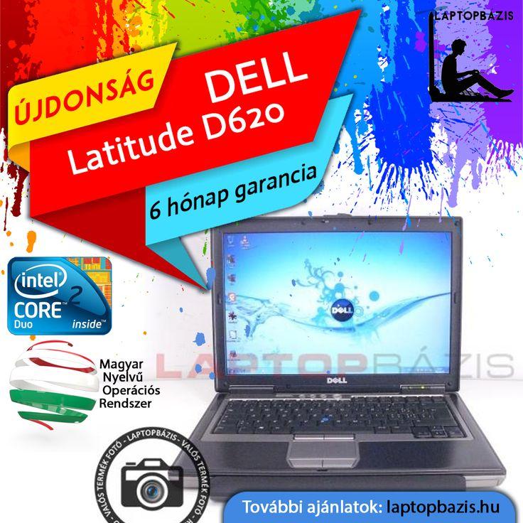 "Dell Latitude D620 laptop, Intel Core 2 Duo T5500, 14,1"" LCD kijelző, DVD-RW, WiFi  Ár: 29 900.- Ft"