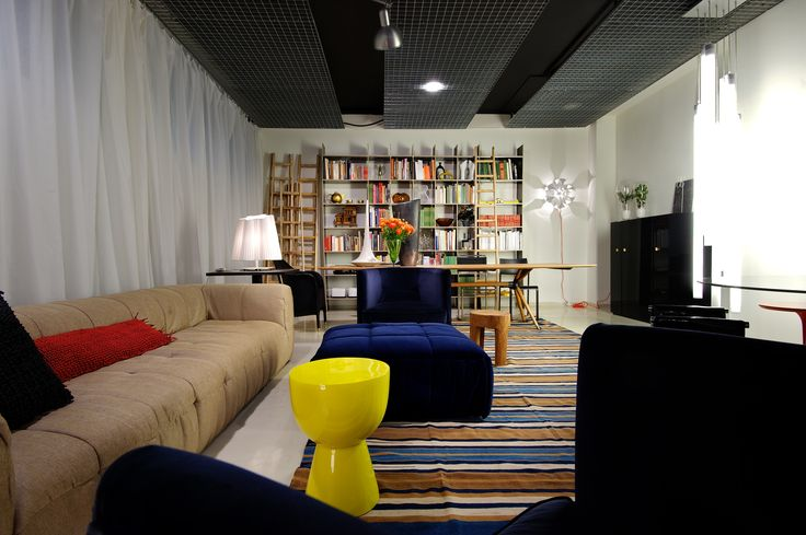 #living #space #cool #mood #color #library #table # sofa #carpet