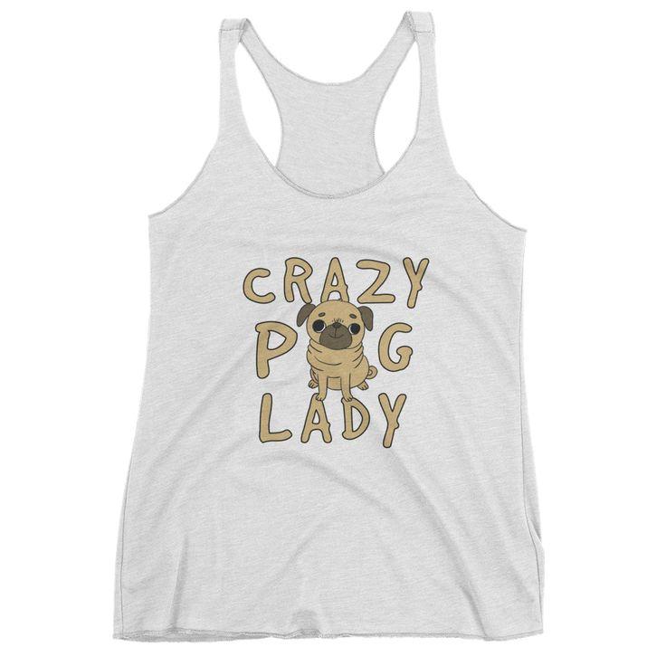 Crazy Pug Lady Women's tank top