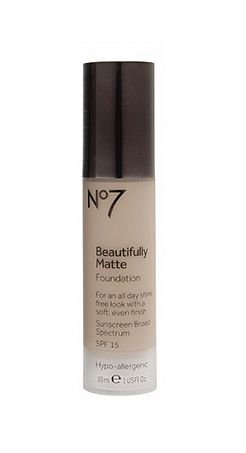 If shine control is your number one priority, this foundation is your pick. // No7 Beautifully Matte Foundation by Boots
