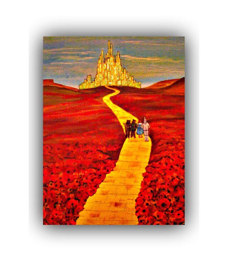 Wizard of oz art \ Wizard of oz decor \ Wizard of oz wall art \ Wizard of oz home decor \ yellow brick road art \ Wizard of oz gifts \ oz by DawnsINKSpirations on Etsy https://www.etsy.com/listing/271310314/wizard-of-oz-art-wizard-of-oz-decor