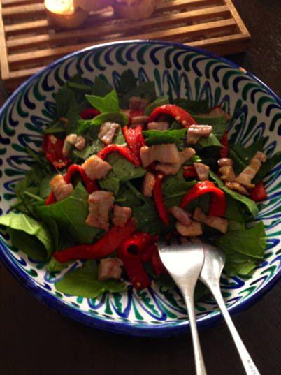 塩豚でホウレンソウサラダ - ナチュラルテラピーショップ:ルーン ... こういうサラダ、ワインのお供にも良いですよね!