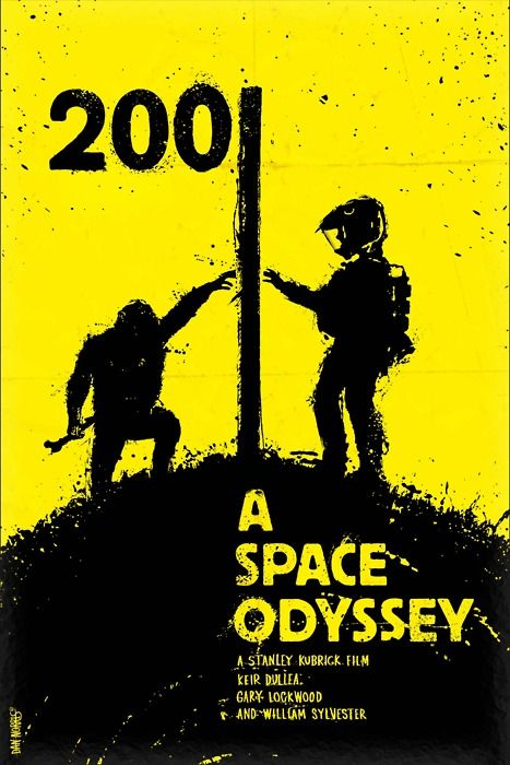 """POSTER """"A space odyssey"""" The Movie Of Stanley Kubrick and Arthur.C.Clark #poster"""