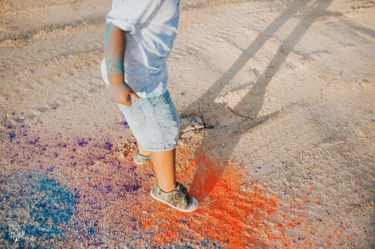 Maddy + Chris | Fun colourful confetti + holi powder engagement session | White Fox Studios