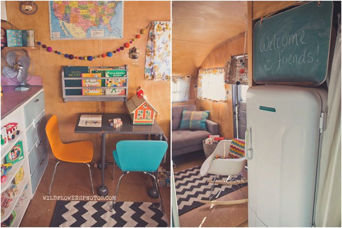 THE MOST insanely amazing trailer renovation. I am absolutely in love. wow. (and this family decided to sell their stuff, sell their house, and hit the road for 6 months in this baby. bold move!)