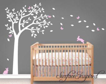 Decalcomania Nursery Wall Decals albero di SurfaceInspired su Etsy