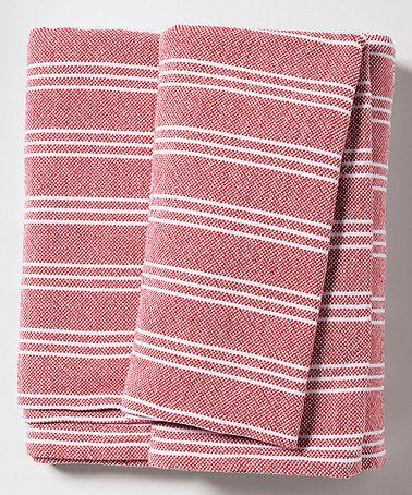Tomato Stripe Bed Blanket by Serena & Lily #zulily #zulilyfinds