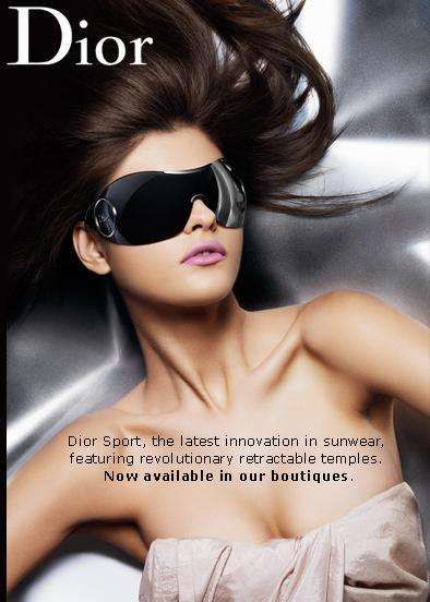 Dior Sport Sun Mask Sunglasses Look Ready for Outer Space - The Dior Sport Sun Mask offers high-tech sun protection for the eyes.  Plus you get to look like an intergalactic operator!  The sun mask in XXL sh...