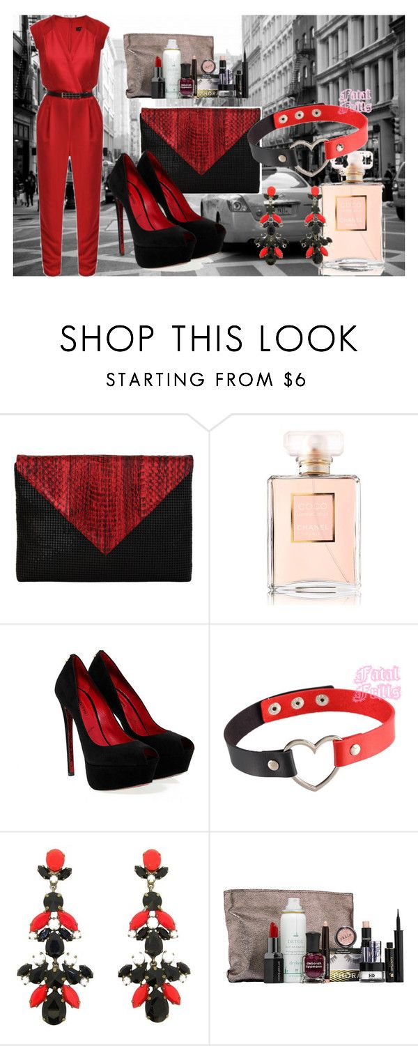 """""""#redandblack"""" by alija-i ❤ liked on Polyvore featuring Whiting & Davis, Cesare Paciotti and Sephora Collection"""