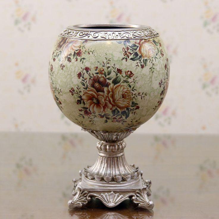 Европейский стиль роскошный Европейский стиль сельский керамические расписные вазы ваза с высоким ноги чайный столик украшения стола
