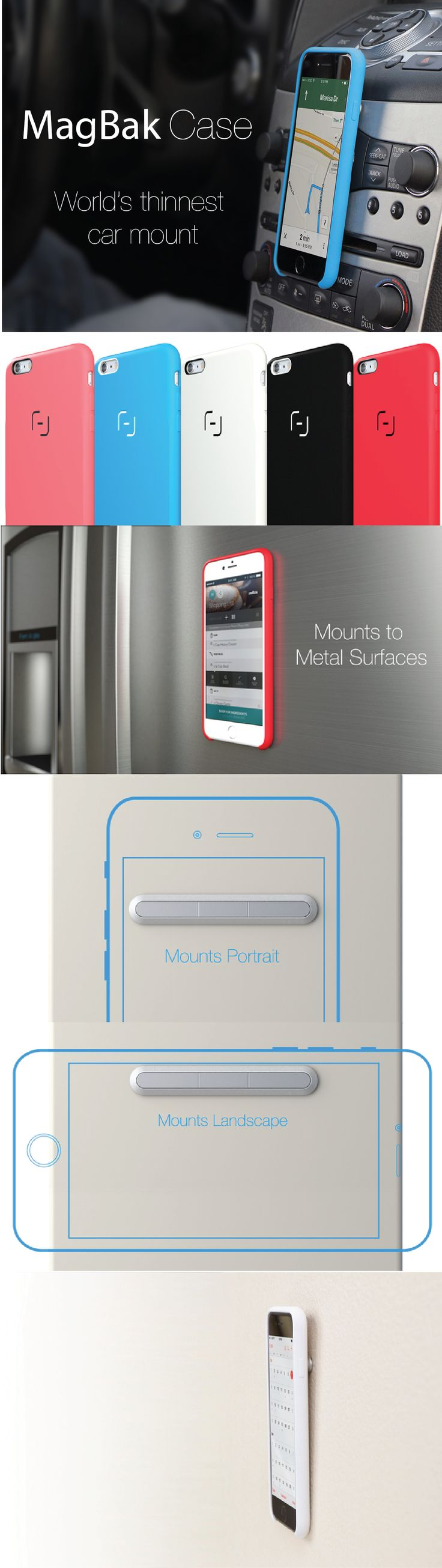 Awesome Minimalist mountable iPhone Case.