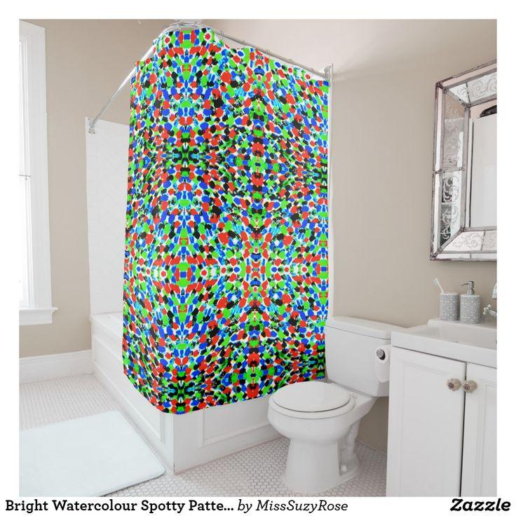Bright Watercolour Spotty Pattern Shower Curtain,multicoloured+shower+curtains,bright+bathroom+accessories,bathroom+decor,funky+bathroom+ideas,colour+match+shower+curtain,fashionable+shower+curtain,bright+spotty+shower+curtain,modern+shower+curtain,cute+pattern+shower+curtain,design+and+colour