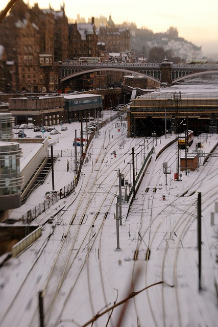 Waverley station in the snow