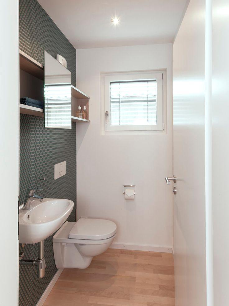 Gäste WC Mit Fototapete   Badezimmer Ideen Inneneinrichtung Einfamilienhaus  PLANMIT Musterhaus S1 Von Baufritz Haus