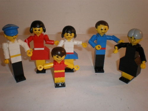 Homemakers vintage Lego - precursor to the modern minifig.