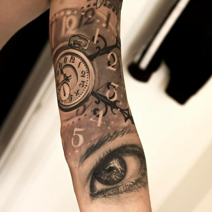 Black Ink Quetzalcoatl Tattoo On Full Sleeve By Spencer: 17 Best Images About Tatoo Horloge On Pinterest