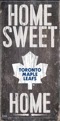 NHL - Home Sweet Home - Toronto Maple Leafs Wooden Sign