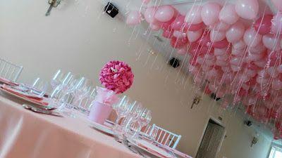 LOS DETALLES DE BEA: Como hacer Magia con globos... Centros de mesa y mar de globos en el techo.